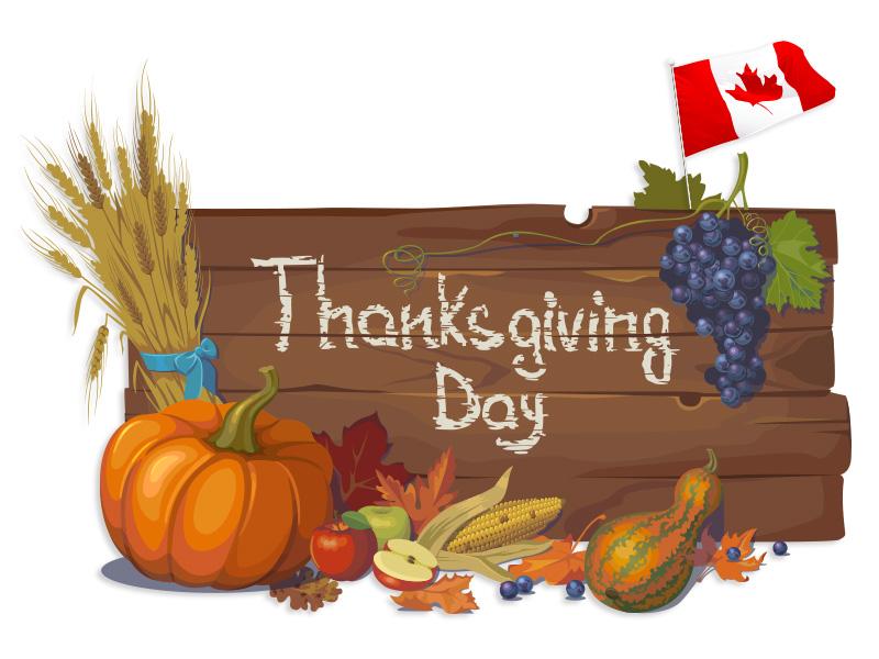 الاثنين 9 تشرين الأول 2017 هو عيد الشكر في كندا