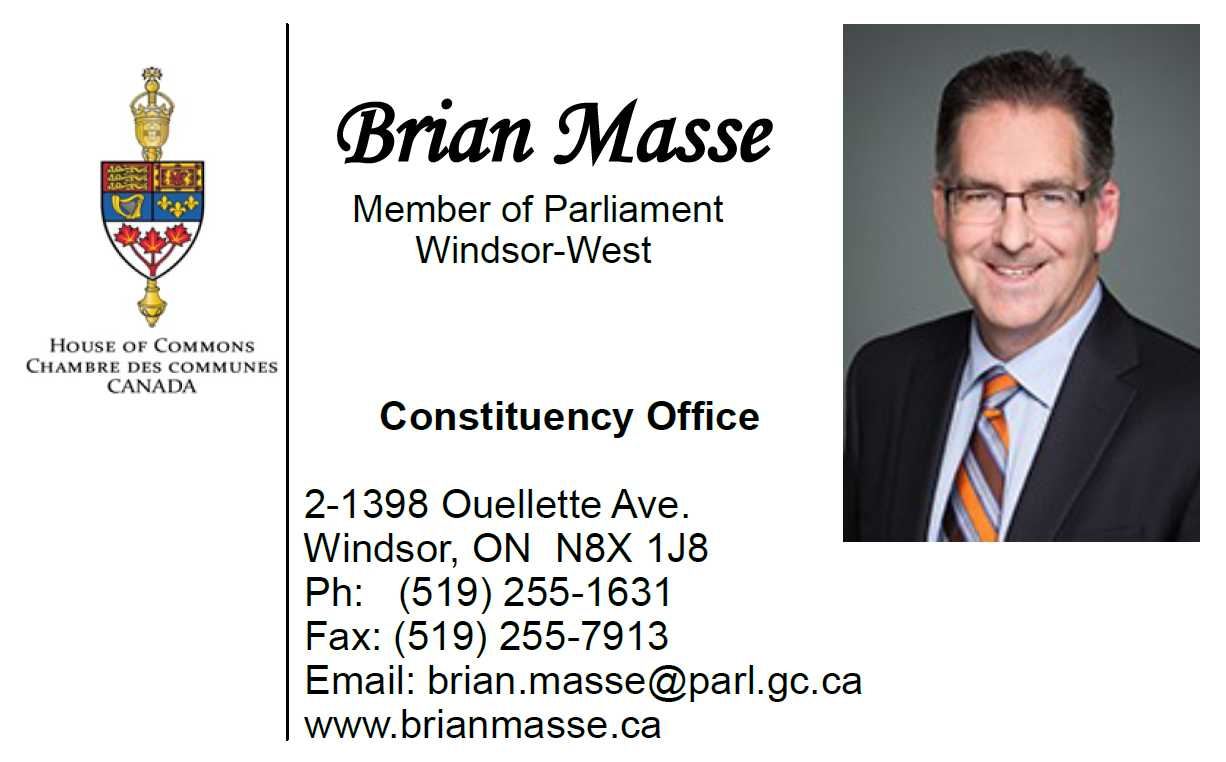 Brian Masse    Member of Parliament